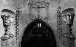 Entry of the Sedlec ossuary Royalty Free Stock Images