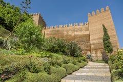 The entry staircase Alcazaba Stock Photos