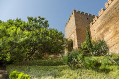 The entry staircase Alcazaba. This is the entrance stairs of La Alcazaba Royalty Free Stock Photography