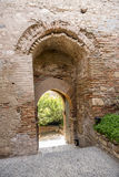 The entry staircase Alcazaba. This is the entrance stairs of La Alcazaba Stock Photos