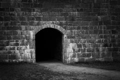 Entry in stone wall Stock Image