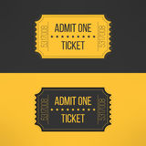 Entry ticket in stylish vintage style. Admit one. Cinema, theater, zoo, festival, carnival, concert, circus event. Pass icon for online tickets booking. Vector Stock Image