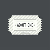 Entry ticket to old vintage style Royalty Free Stock Photo