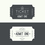 Entry ticket to old vintage style. Hipster logo. Admit one theater, cinema, zoo, swimming pool, fair, rides, swing, amusement park, carousel. icon for online Stock Image
