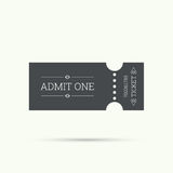 Entry ticket to old vintage style. Hipster logo. Admit one theater, cinema, zoo, swimming pool, fair, rides, swing, amusement park, carousel. icon for online Royalty Free Stock Images
