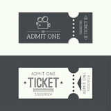Entry ticket to old vintage style. Hipster logo. Admit one theater, cinema, zoo, swimming pool, fair, rides, swing, amusement park, carousel. icon for online Royalty Free Stock Photography