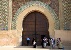 Entry to the Bab el-Mansour gate Stock Images