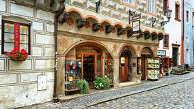 The entry to the bar Zapa in Cesky Krumlov Royalty Free Stock Photography