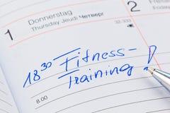 Entry to the calendar: exercising Stock Photos
