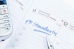 Entry to the calendar: tax consultants Royalty Free Stock Image