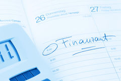 Entry to the calendar: tax office Royalty Free Stock Photos