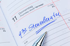 Entry to the calendar: tax services Royalty Free Stock Images