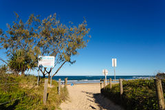 Entry to Dicky beach Stock Photo
