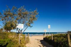 Entry to Dicky beach Stock Photo