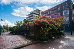 Entry to Embarkation Park on a beautiful sunny morning. Potts Point, Sydney, Australia -September 03, 2018: Entry to Embarkation Park on a beautiful sunny royalty free stock photo