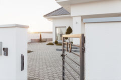 Entry to mansion area Royalty Free Stock Images