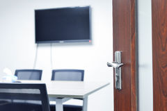 Entry to the meeting room Stock Images