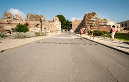 Entry to Old Nessebar in Bulgaria Royalty Free Stock Photo