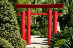 Entry to Oriental garden, Madeira. Oriental garden in Funchal,  Madeira island Stock Photos