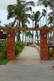 Tropical Stone Beach Entrance Royalty Free Stock Photography