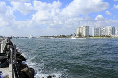 Entry to Port Everglades Stock Photography
