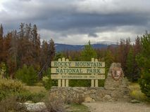 the entry to the rocky mountains royalty free stock photo