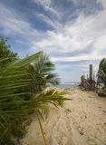 Entry to sally peaches beach corn island Royalty Free Stock Photography