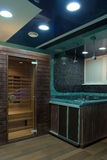 Entry to sauna. Spa-salon interior Stock Photography