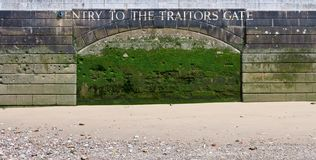 Entry to the Traitors Gate. Stock Photo