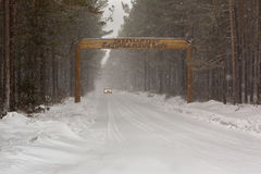 Entry to the Trans-Baikal National Park. Stock Image