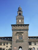 The entry tower to Sforza's castle in Milan Stock Image