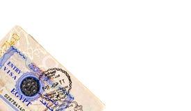 Entry Visa Royalty Free Stock Photos