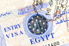 Entry Visa Royalty Free Stock Photography