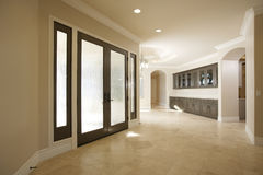Entry way in a luxury home. Modern Entry way in a luxury home Royalty Free Stock Photo