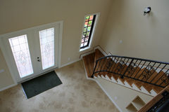Entry Way and Stairwell. View of entry way and stairwell Royalty Free Stock Photos