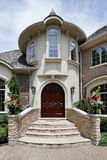 Entry way with stone steps Stock Photos