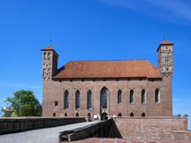 Entry way to old castle in Lidzbark Warminski Stock Photo