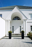 Entry of a white House. Entry of a modern white House Stock Photo
