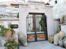 Entryway жилого дома в Goreme, Cappadocia, Турции Стоковые Фото