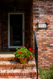 Entryway. Of a traditional American home in summer Royalty Free Stock Images