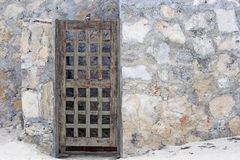 Entryway. A door or gate provides private entry to the unknown Royalty Free Stock Images