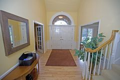 Entryway in luxury house. View of entryway in luxury house Royalty Free Stock Image