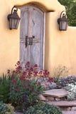 Entryway nära Canyon Road i Santa Fe Royaltyfria Bilder