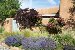 Entryway near Canyon Road in Santa Fe. New Mexico Royalty Free Stock Image