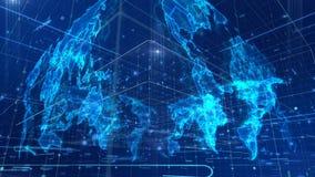 Entscheiden Art News World Map stock abbildung