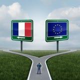 Entscheidung Frankreich-Europäischer Gemeinschaft Stockfotos