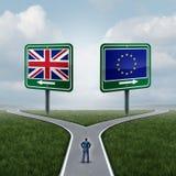Entscheidung Großbritannien-Europäischer Gemeinschaft Stockfotografie