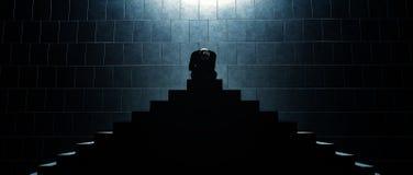 Entscheidungen in der Dunkelheit Stockbilder
