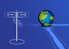 Entscheidungen der Welt lizenzfreie abbildung