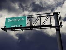 Entscheidungen voran Lizenzfreie Stockfotos